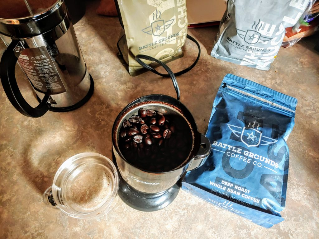 Battle Grounds Coffee Company - Grinding It