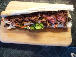 beef and chicken sandwich