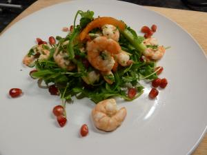 prawn-and-pomegranate-salad