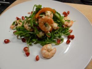 prawn-and-pomegranate-salad