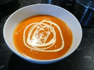 roasted squash and chilli soup