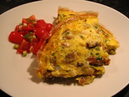 smoked mackerel frittata