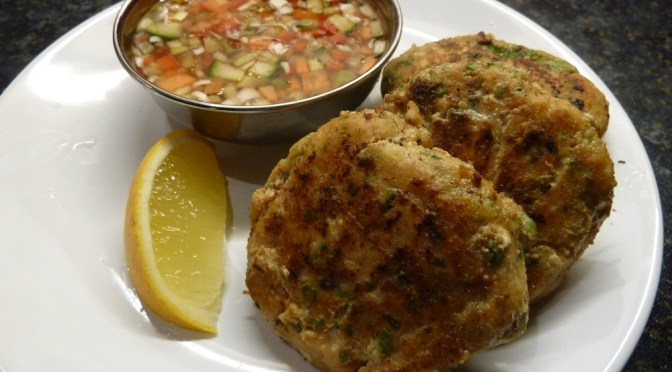 Red Thai curry fishcakes