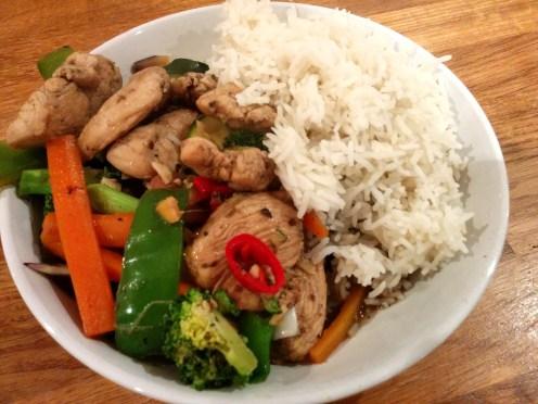szechuan chicken stir fry