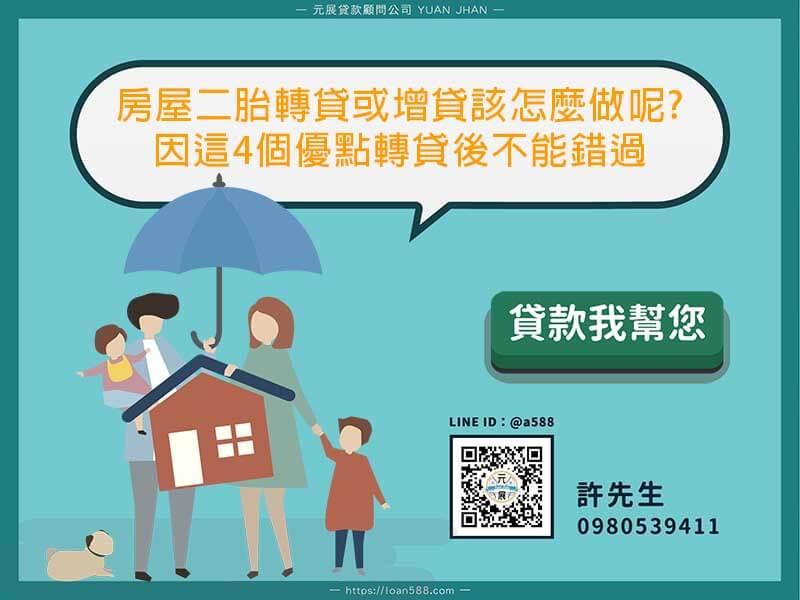 房屋二胎轉貸或增貸
