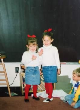 Kindergarten Birthday Celebration. Always had to match, always.