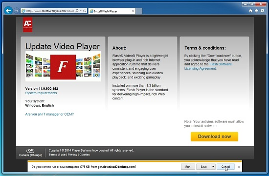 Reactiveplayer.com adware