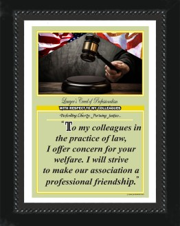Alabama State Lawyer's Creed BLK5 Prints