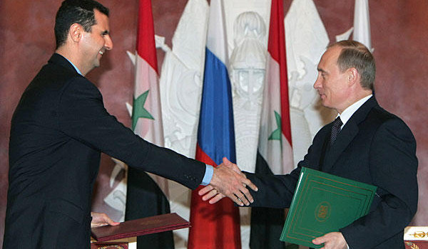 Image result for putin and assad relationship