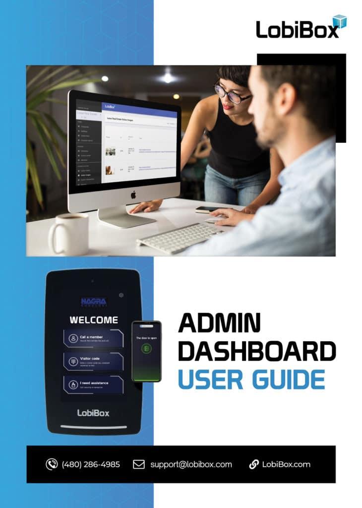 Admin Dashboard User Guide Cover