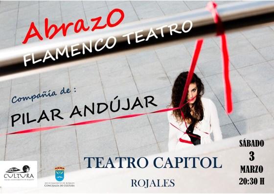 "Cartel ""Abrazo"" con Pilar Andújar en Teatro Capitol, Rojales"