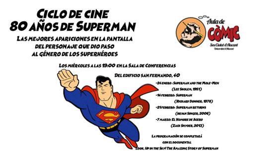 El Aula de Cómic de la UA celebra 80 cumpleaños de Superman