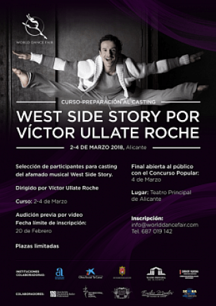 Cartel Completo del Curso de Preparación para el Casting del Musical West Side Story, World Dance Fair