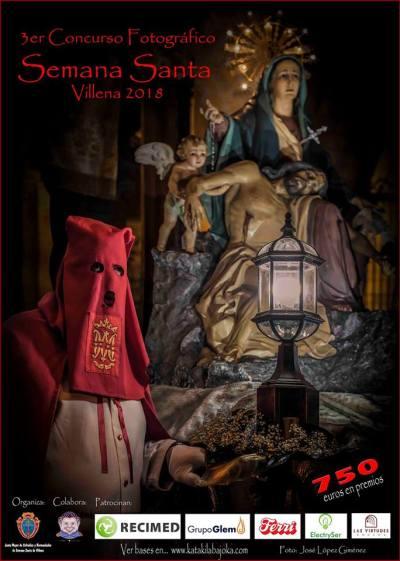 Cartel 3er Concurso fotográfico Semana Santa Villena 2018