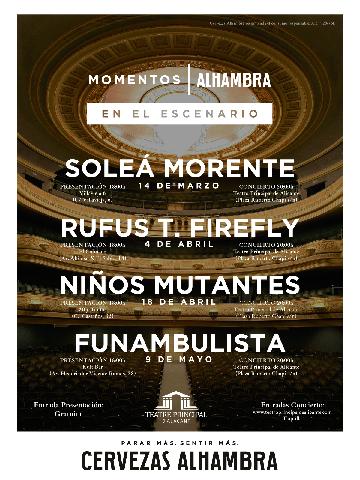 Cartel Alhambra 2018 Alicante