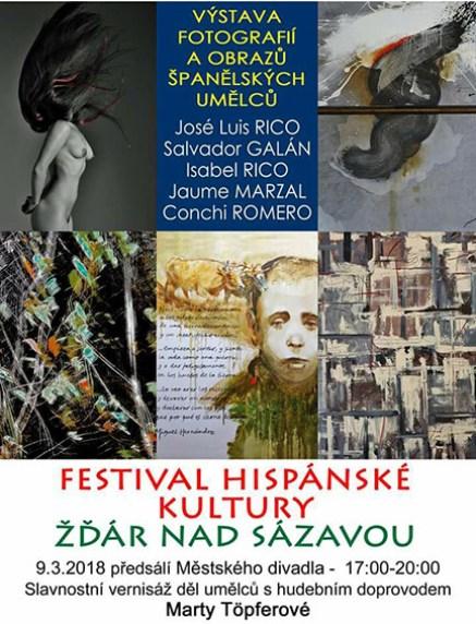 Cartel de la exposición de los artistas del Colectivo Mediterráneo en Zdár nad Sazavou