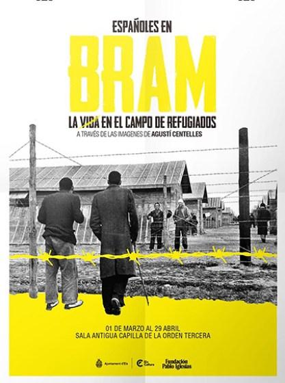 """Cartel Exposicion """"Españoles en Bam. La vida en el campo de refugiados a través de la imágenes de Agustí Centelles"""""""