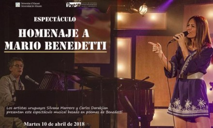Poema inédito de Benedetti «Miedo y coraje» se ecuchará musicalizado por primera vez en el Paraninfo de la UA