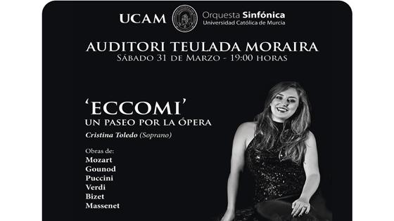"""""""Eccomi:Un paseo por la ópera"""" y Réquiem de Karl Jenkins en el Auditori Teulada Moraira"""