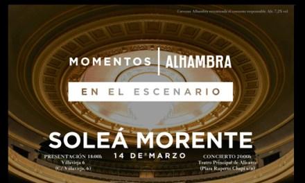 """Soleá Morente llega al al Teatro Principal como parte de los """"Momentos Alhambra"""""""