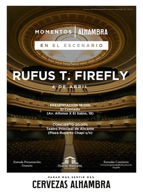 Cartel Rufus T. Firefly en Momentos Alambra en Alicante