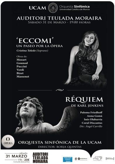 Cartel Eccomi y Requiem en Auditorio de Teulada