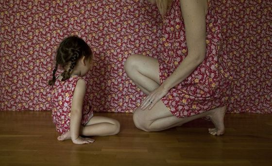 """Una de las piezas de la exposición """"Subir a por aire""""de Masha Petrova."""