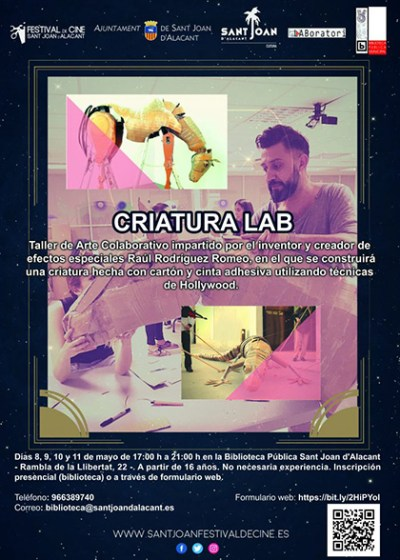 Cartel Taller CRIATURA-LAB