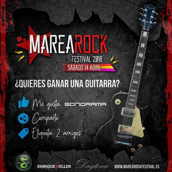 Cartel sorteo guitarra Marearock 2018