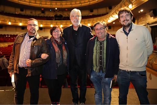 Juan León Fabrellas, Helena Vilella, Eloy Sanchez Rosillo, Francisco Gómez y Juaquín Juan Penalva. Foto: José Manuel Sanrodi.