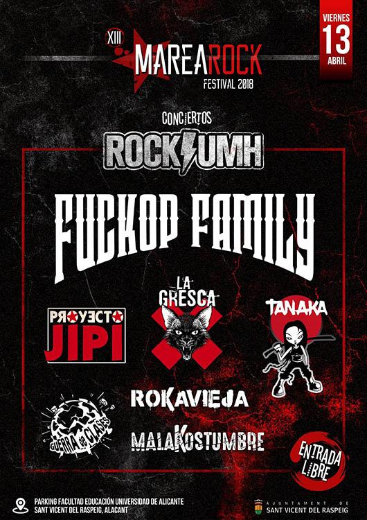 Marearock 2018 Cartel Escenario Escuela de Rock UMH