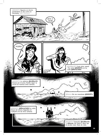 Páginas segundo número Saxífono Comix por Miguel Porto