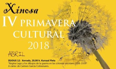 Xinosa organiza en Monóvar la IV Primavera Cultural durante los meses de abril, mayo y junio
