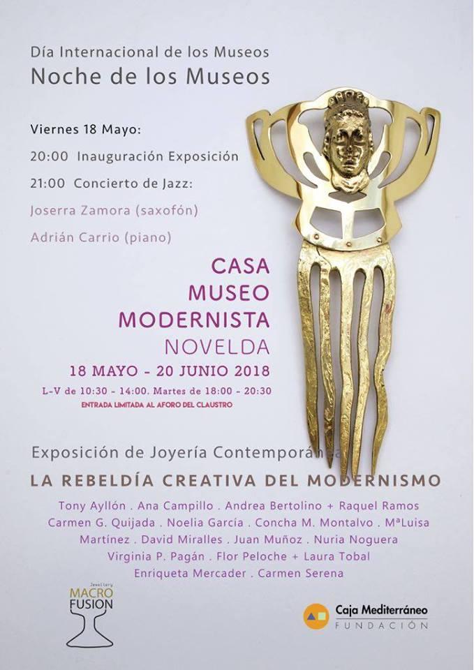 Exposición La Rebeldía Creativa del Modernismo en la Casa-Museo de Novelda