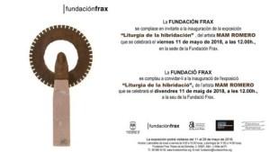 """Cartel exposición """"Liturgia de la hibridación"""" de Mam Romero en la Fundación Frax"""