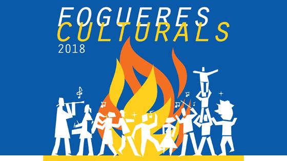 Cartel de «Fogueres Culturals 2018» propone una veintena de actos