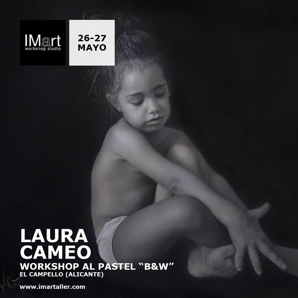 Workshop al pastel Blanco y Negro Laura Cameo - IMart el Campello