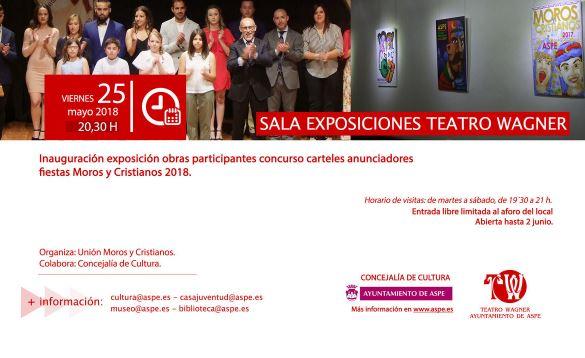 Inauguración exposición obras Moros y Cristianos en Aspe