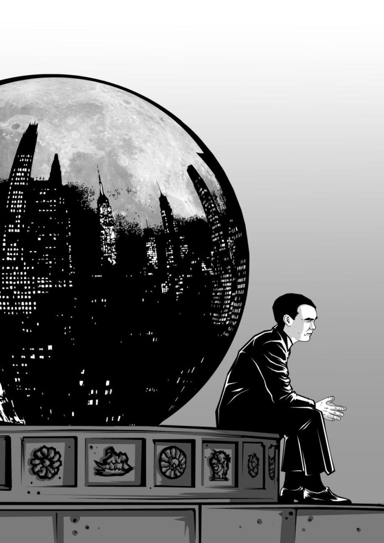 Ilustración de Carlos Esquembre, cubierta de la Antología