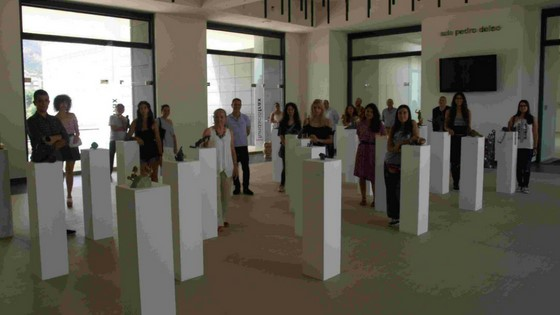 Alumnos y alumnas de Bellas Artes exponen sus esculturas en la Fundación Frax
