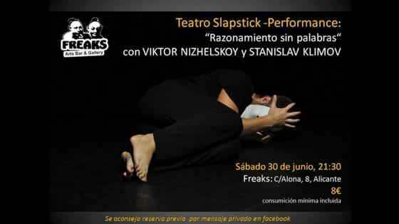"""""""Razonamiento sin palabras"""" el sábado 30 de junio en Freaks Arts de Alicante"""