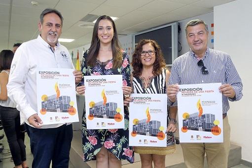 Manolo Jiménez, Aleida González, la edil de Cultura, Mª Dolores Padilla i Andrés Llorens. Foto: Ajuntament d'Alacant/Ernesto Caparrós