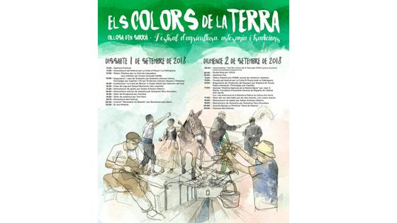 Callosa d'en Sarrià celebra el pròxim 1 i 2 de setembre el seu festival d'agricultura, artesania i tradicions «Els Colors de la Terra»