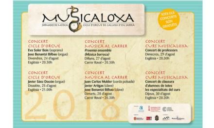 La música antiga tornarà a sonar a Callosa d'en Sarrià del 24 al 31 d'agost amb 'Musicaloxa'