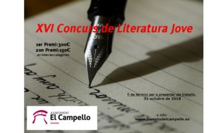 El Campello cerca escriptors-es joves per tota la Comunitat Valenciana