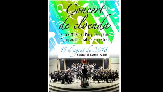 "Este miércoles finaliza ""Sensacions d'Estiu"" con el concierto del ""Centre Musical Puig Campana"" y l'Agrupació Coral de Finestrat"