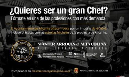 Una beca de 4.000 euros para la investigación en el Máster Arroces y Alta Cocina Mediterránea Aplicada propuesta por el Ayuntamiento de Alicante