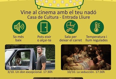"""La regidoria de Cultura de Sant Joan i la UA reprenen la """"Sessió Teta"""", sessions de cinema per a mares lactants i pares sensibles"""