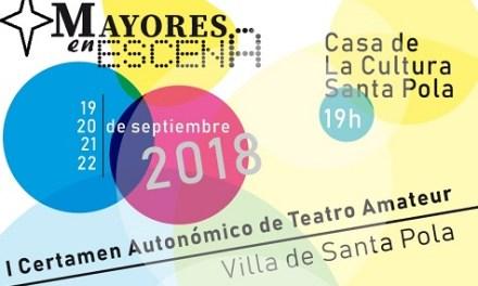 Santa Pola recibe el primer certamen autonómico de Teatro Amateur de Mayores los días 19, 20, 21 y 22 de septiembre