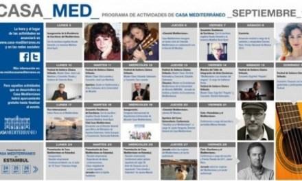 La música i la literatura protagonitzen les activitats de setembre de Casa Mediterráneo